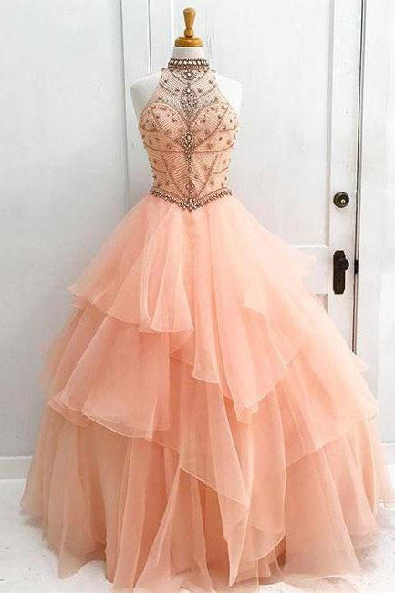 A-line ball prom dress, long prom dress, princess prom dress , beautiful beading prom dress,high quality hand made prom dress, elegant wowen dress party dress, dress for teens L971