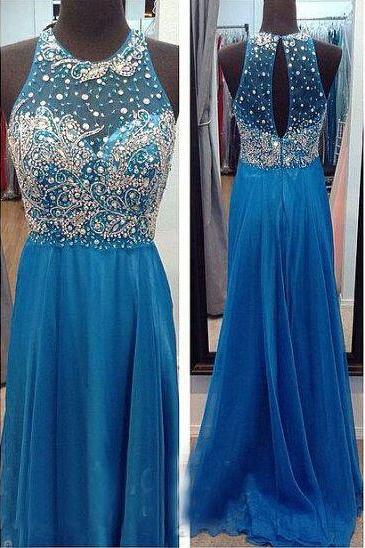 Long prom dress,beading prom dress,Elegant Women dress,Party dress,chiffion prom dress L326