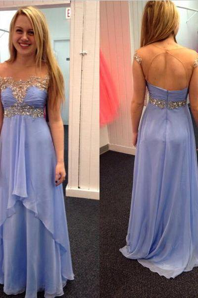 High quality prom dress,long prom dress,a-line princess prom dress,beautiful beading Evening Dress,Elegant Women dress,Party dress L272