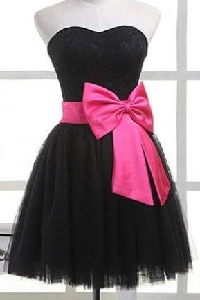 Short prom dress,homecoming prom dress,black prom dress,strapless prom dress,elegant wowen dress,party dress,evening dress,dress for teens L607